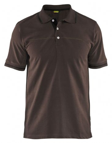 Blaklader 3389 Pique Polo Shirt (Brown/Black)